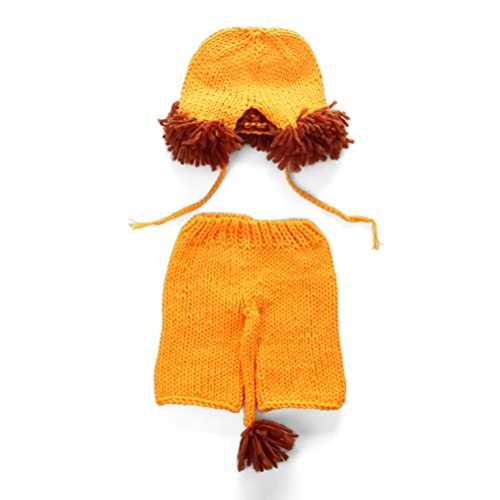 Zhhlaixing Baby Crochet Photography Props Newborn Photo Unisex Costumes Infant Beanies and Pants Clothing Set XDT-450#