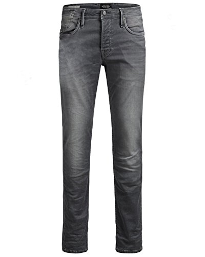 Jack & Jones Jjitim Jjleon Sc 079 Indigo Knit Noos, Jeans Homme Grau (Grey Denim Grey Denim)
