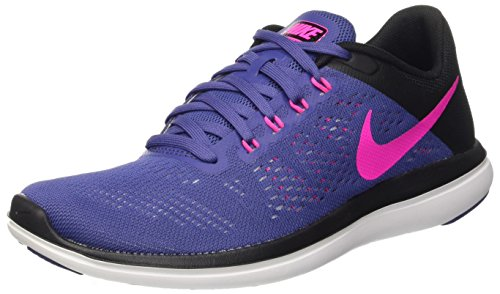 Nike Wmns Flex 2016 Rn, Entraînement de course femme Multicolore - Multicolore (Dk Purple Dust/Pink Blast-Black)