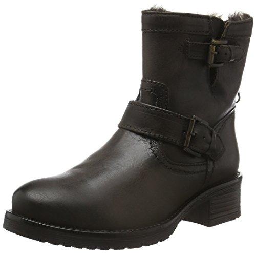 Buffalo London Damen ES 30493 Mexico Suede Biker Boots, Grau (Grey 10), 40 EU (Leder Buffalo)