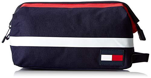TOMMY HILFIGER Tommy Pop Framed Washbag CorporateDatos:o Material: 100% algodóno Dimensiones: Anchura de unos 24 cm, altura de unos 12 cm, profundidad de unos 14 cmo Color: Corporativo (Azul / Rojo / Blanco)o Fabricante: TOMMY HILFIGER