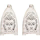 Brown Village Brown Color Shadow Idol Large (Buddha) Antique Finish (Set Of 2)