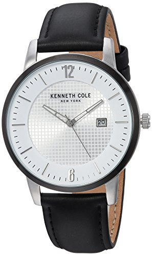 Kenneth Cole New York Unisex-Adult Analog-Quartz Watch with -Leather Strap KC50179001