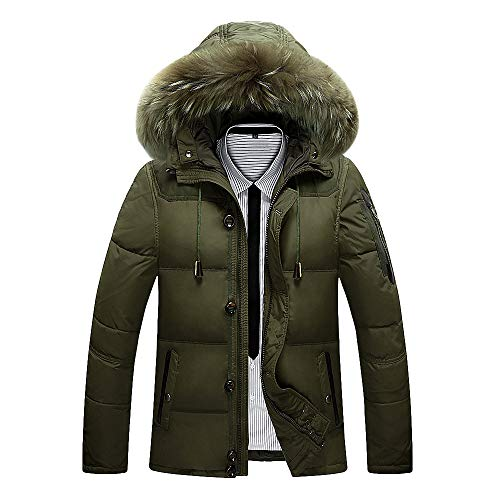 Luckycat Mode Herren Herbst Winter Warm Button Pocket Zipper Hooded Jacket Top Coat Winterjacke Steppjacke Daunenjacke Parka Mäntel Jacken