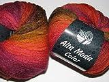 Lana Grossa Alta Moda Color Fb. 7 mandarin/curry/flieder 50 g