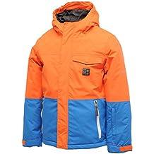 "Dare 2b - Cazadora deportiva juvenil, Niño, color naranja - Pumpkin Orange/Skydiver Blue, tamaño 86,4 cm (34"")"