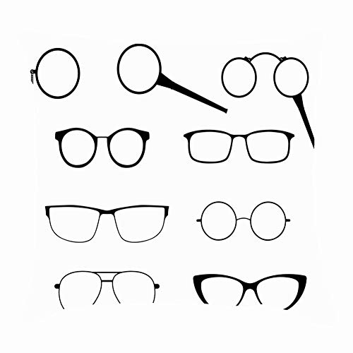 tuyi Glasses Silhouette Set Frames modern Beauty Fashion Monocle Throw Pillow Covers Cotton Linen Cushion Cover Cases Pillowcases Sofa Home Decor 18