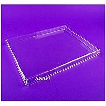 Faberplast FB961 - Caja plana con tapa, color transparente