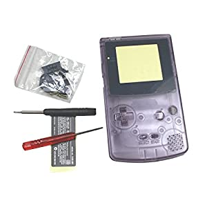 OSTENT Komplettes Gehäuse Shell Case Cover Ersatz Kompatibel für Nintendo GBC Gameboy Color Konsole – Color Clear Purple
