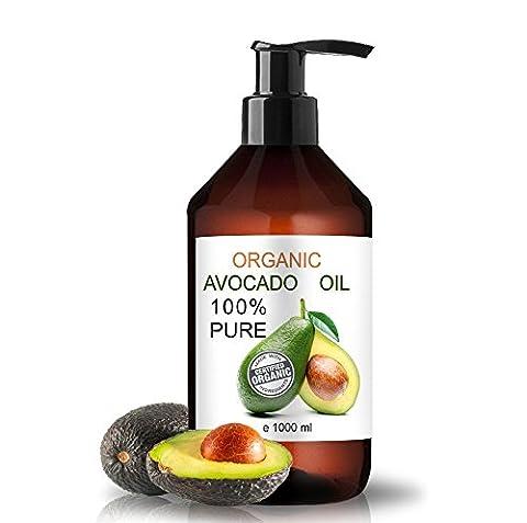 Organic Avocado Oil 100% Natural 1000 ml I 35.9 Fl