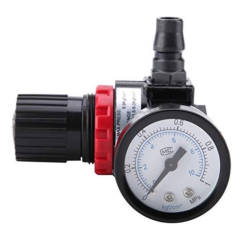 Pneumatische Luftsteuerung Kompressor Druckregler Manometer Wartung Ventil Luftstrom Einlassdruck Einstellwerkzeug -