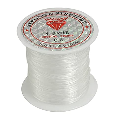 sourcingmap® Jewelry Beading Thread Cord Clear Nylon Fishing Line Spool 0.6mm 53Lbs