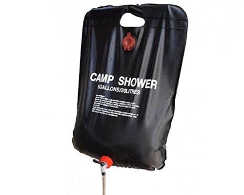 Doccia Solare 20 Litri da Esterno Campeggio con Kit di Montaggio Incluso Fair ShopOnline