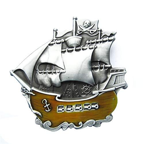 Preisvergleich Produktbild Urban Backwoods Pirate Ship I Gürtelschnalle für Wechselgürtel Buckle