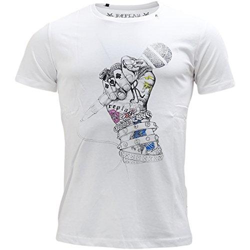 Replay -  T-shirt - T-shirt  - Basic - Maniche corte  - Uomo White X-Large