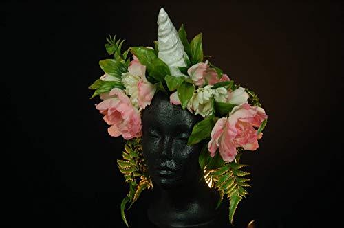 Fantasy Festival Kostüm - Einhorn Blumen Kranz LARP Fee Kostüm Einhorn Rollenspiele Fantasy festival Kopfschmuck Blumenkranz