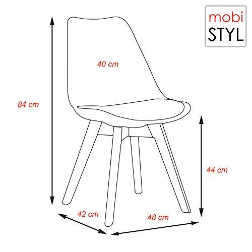 chaise design promo promo x chaise design inspiration eames bois noir transparent gris mobistyl. Black Bedroom Furniture Sets. Home Design Ideas