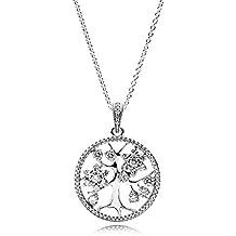 Pandora Collar con colgante Mujer plata - 390384CZ-80