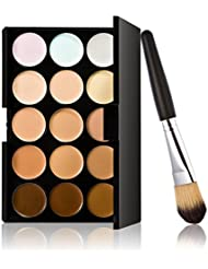 Pixnor 15 Farben Make-up Concealer Palette + Pinsel