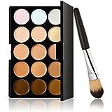 15 colores resaltando el contorno + 1 polvo cepillo facial maquillaje crema corrector paleta contorno Kit