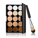 LEORX Face Contour Kit marcador maquillaje Kit 15 paleta crema corrector con pincel