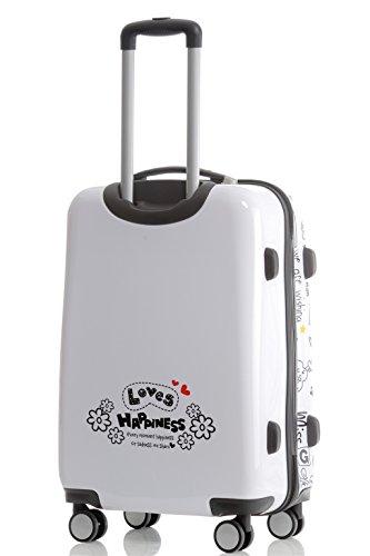 Maleta de viaje 2060,rígida, en 12 motivos, XL, L, M love XL+L