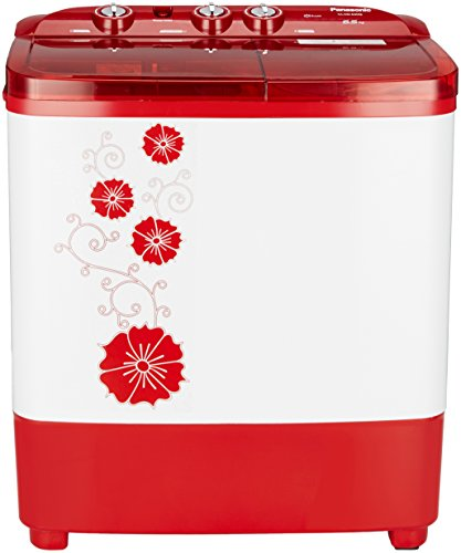 Panasonic 6.5 kg Semi-Automatic Top Loading Washing Machine (NA-W65B3RRB, Red)