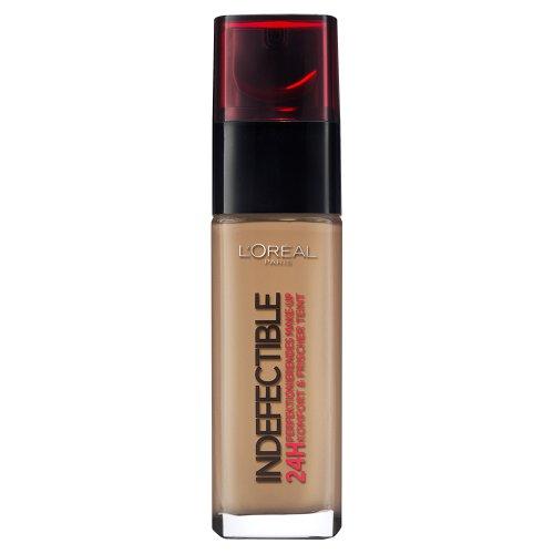 L'Oréal Paris Indefectible Make Up, 250 Radiant Sun - Make Up 24 Stunden Halt - optimal deckend & ultra-resistent gegen Talg und Schweiß,...
