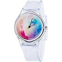 Sannysis Jalea de gel de silicona de cuarzo analógico Deportes Mujeres reloj de pulsera (05)