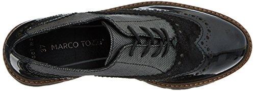 Marco Tozzi 23718, Scarpe Oxford Donna Nero (Black Metcomb)