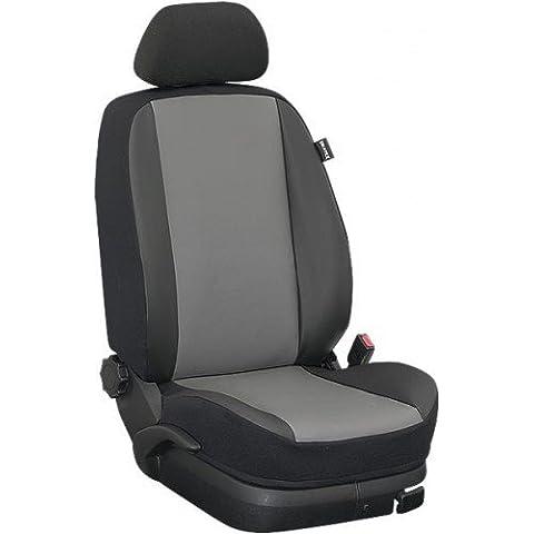 Ukatex Seat Altea XL a partir de año fab. 03 /2009 Funda para asiento trasero (Resto 40:20:40 , Banco 2/3 : 1/3 dividido) - Piel artificial gris / piel artificial