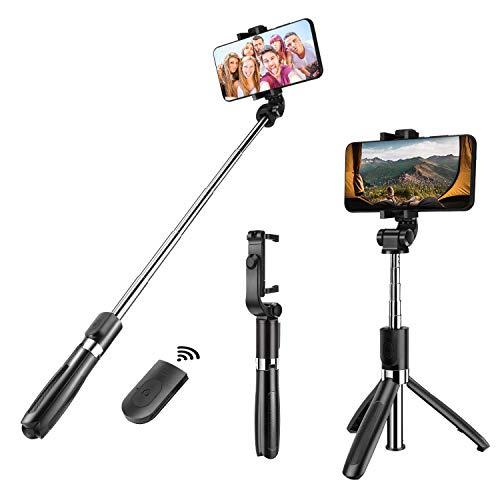Selfie Stick Stativ, Molyhood 3 in 1 Bluetooth Selfie-Stange Stab mit Dreibein+Bluetooth Fernauslöser+Handyhalterung, tragbar Monopod Wireless Selfie Stick für iPhone/Samsung/Huawei IOS und Android