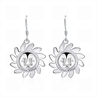 AYLS Personalized Creative Sun Ear Hook/Stainless Steel/Anti-allergic/Silver Flashing/Spiral/Small and Exquisite