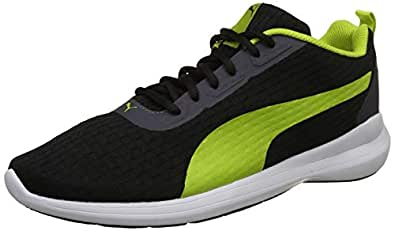 Puma Men's Black-Limepunch Sneakers-10 UK/India (44.5 EU) (4059507938923)