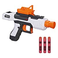 Dart-firing blaster;Tactical rail;Removable sight;Comes with 3 foam darts;Fires darts up to 65 feet (20 meters)