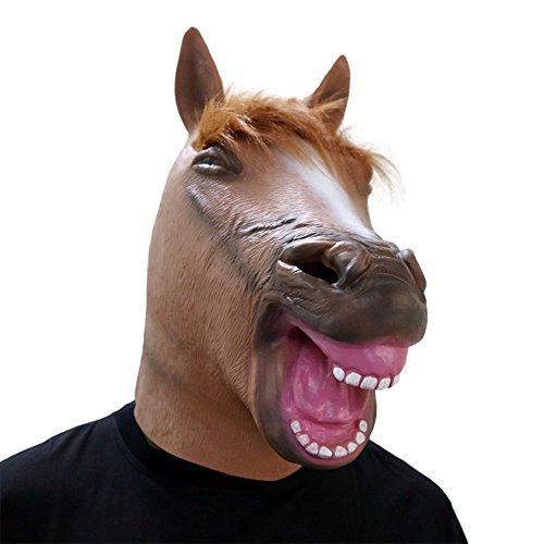 Stil Kostüm Gangnam Kinder - COCOSPLAY Pferdekopf Maske Neuheit Tier Kopf Masken Halloween Gangnam Stil Tanz Latex Gummi Naturlatex/Eine Größe/Geschenk, Multicolour2pcs