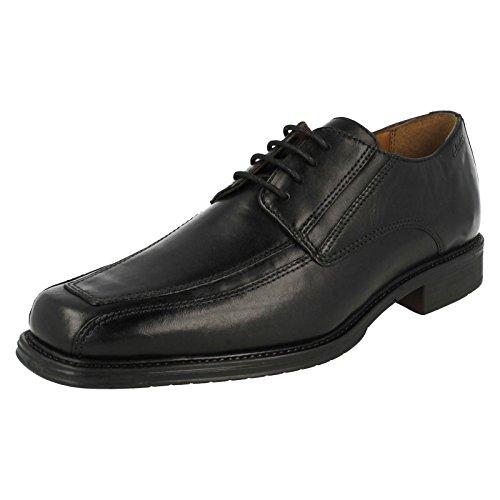 Clarks Herren Klassisch-Elegant Driggs Walk Leder Halbschuhe Schwarz Größe 48