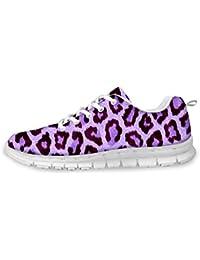 Damen Lavendel Laufschuhe Leopardenprint Sneaker Sportschuhe Turnschuhe  Bequem Schnürer Atmungsaktiv Mesh Mode Freizeitschuhe Straßenlaufschuhe  Running ... 14f2dac911