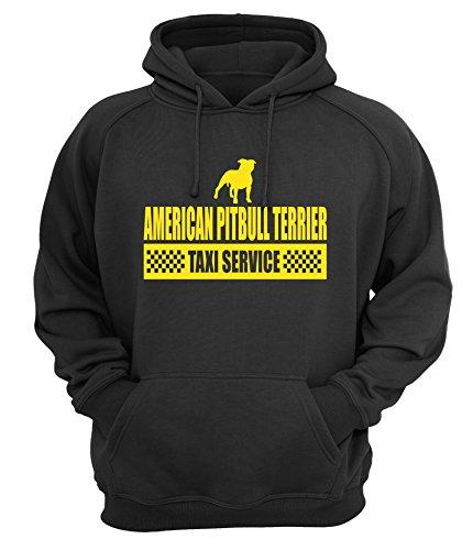 AMERICAN PITBULL TERRIER - TAXI - Unisex Hoodie Kapuzensweatshirt Pullover Hund Hunde Siviwonder black S (Black Pitbull-t-shirts)