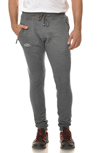 M.Conte Men Sweat Pants Uomo Jogging Pantaloni in Felpa Roberto grigio XXXL