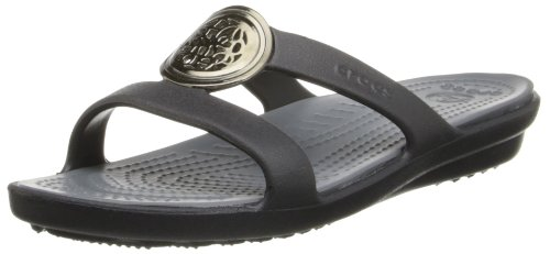 Crocs Sanrah Circle Sandalo Black/Charcoal