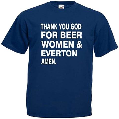 "Everton Beer-Maglietta da uomo Blu Profondo blu marino medium to fit 38 - 40"""