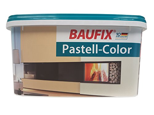 BAUFIX Pastell Color Wand & Decken Farbe 5 liter Matt Farbton Wählbar, Farbe:Cremeweiß