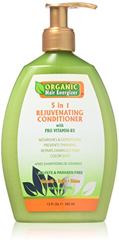 Organic Hair Energizer 5 in 1 Rejuvenating Conditioner with Pro Vitamin B5 by Organic Hair Energizer -