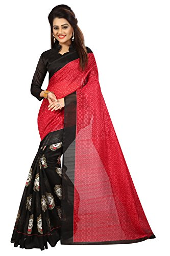 Vahni Silk Saree With Blouse Piece (J_1024_Red_Free Size)