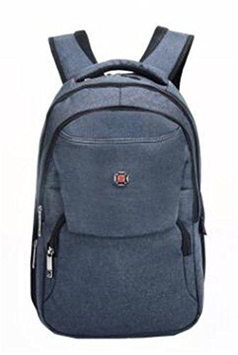 YANFEI Slim Laptop Rucksack Business Leichtes High Capacity Nylon Multifunktion Mann und Frau Student Taschen Reisen Rucksäcke , blue deep grey