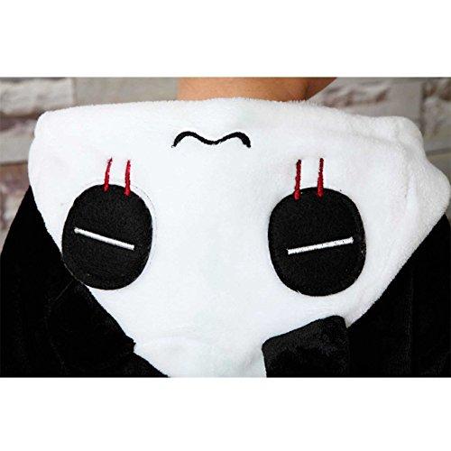 Minetom Unisex Bambini Simpatico Cartone Animato Kigurumi Flanella Pigiama Adulto Anime Cosplay Halloween Costume Costumi Di Carnevale Panda