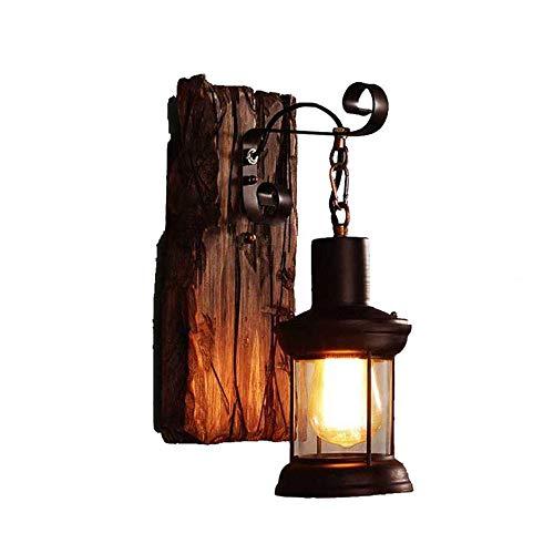 American Rural Style Wandleuchte Schlafzimmer Nachttisch Kreativität Persönlichkeit Vintage Industrial Wind Gangschiff LOFT Schiff Holz Wandleuchte Wandleuchte Wand Laterne -