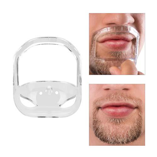 Ckeyin 5pcs Transparent barbe Styling Tool pour hommes, Pochoir de Modèles de Barbiche
