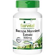 Fairvital - 90 cápsulas vegetarianas de extracto de Bacopa monnieri (brahmi) - 500 mg